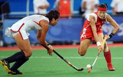 中国女子曲棍球狂胜韩国