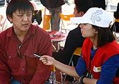 采访北方长福销售代表
