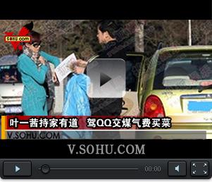 视频:叶一茜持家有道 驾QQ交煤气费买菜很贤惠