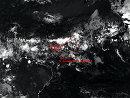 卫星图片显示法航失踪客机残骸所处的位置