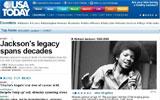 迈克尔杰克逊去世 今日美国