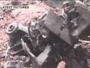 飞机残骸电视截图